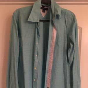 Tommy Hilfiger Men's Turquoise Button Down